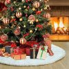 TOBEHIGHER Christmas Tree Skirt 48 Inches White Christmas Tree Skirt High End Soft Classic Fluffy Faux Fur Tree Skirt For Xmas Tree Decorations And Ornaments 0 100x100