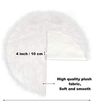 Tatuo White Faux Fur Christmas Tree Skirt Snow Tree Skirts For Christmas Holiday Decorations 120 Cm 0 0 300x360