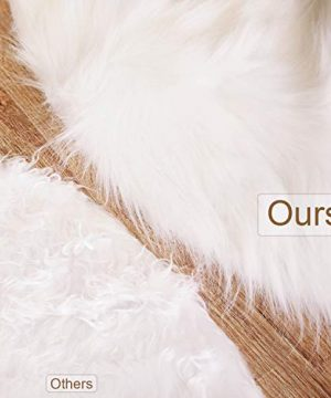 Tatuo White Faux Fur Christmas Tree Skirt Snow Tree Skirts For Christmas Holiday Decorations 120 Cm 0 2 300x360