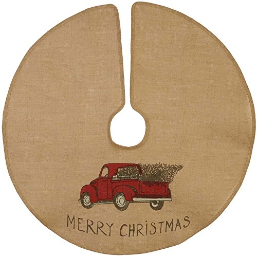 Burlap And Red Christmas Tree: The Country House Christmas Red Truck Burlap Tree Skirt