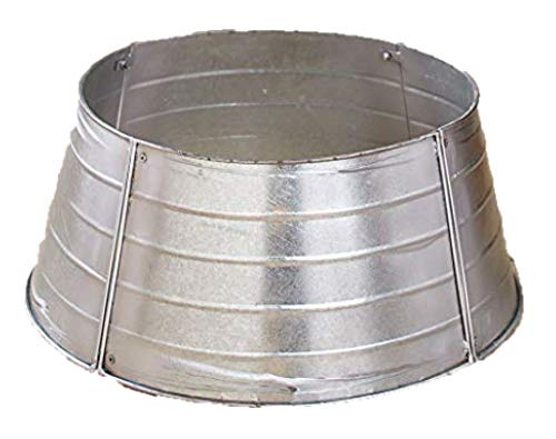 The Lakeside Collection Decorative Metal Christmas Tree Ring Galvanized 0