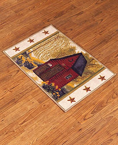 The Lakeside Collection Outhouse Bathroom Rug 0