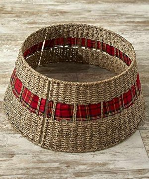 The Lakeside Collection Rattan Christmas Tree Collar 0 300x360