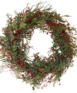 The Wreath Depot Marion Winter Berry Wreath 22 Inch Enhances Winter Decor White Gift Box Included 0 300x360