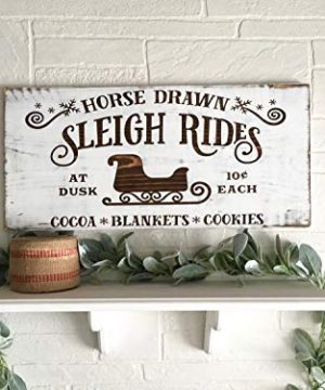 Tiukiu Christmas Signs Sled Christmas Decorations Christmas Home Decor Rustic Wood Christmas Signs Sleigh Rides Large Christmas Signs Holiday Decor 0 300x360