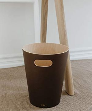 Umbra Woodrow 2 Gallon Modern Wooden Trash Can Wastebasket Or Recycling Bin For Home Or Office Espresso 0 0 300x360