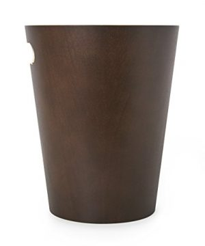 Umbra Woodrow 2 Gallon Modern Wooden Trash Can Wastebasket Or Recycling Bin For Home Or Office Espresso 0 1 300x360