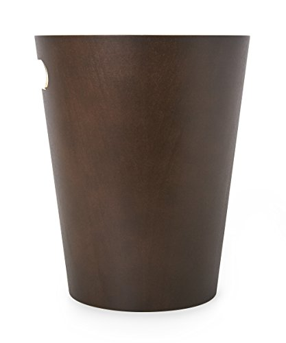 Umbra Woodrow 2 Gallon Modern Wooden Trash Can Wastebasket Or Recycling Bin For Home Or Office Espresso 0 1
