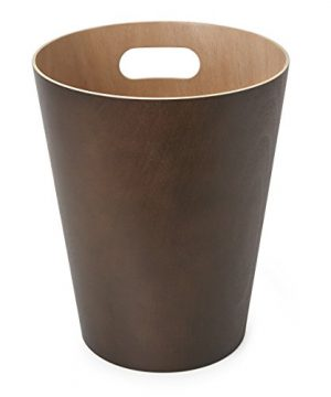 Umbra Woodrow 2 Gallon Modern Wooden Trash Can Wastebasket Or Recycling Bin For Home Or Office Espresso 0 2 300x360
