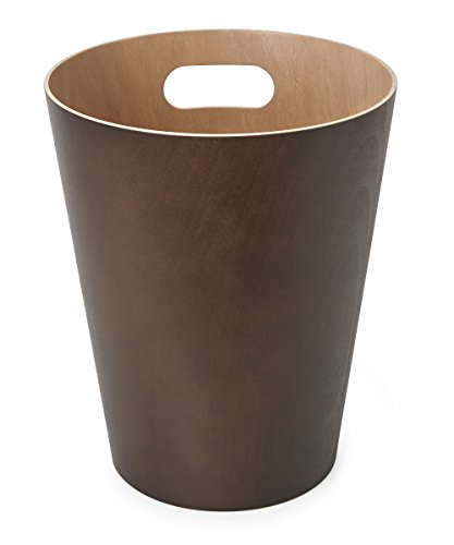 Umbra Woodrow 2 Gallon Modern Wooden Trash Can Wastebasket Or Recycling Bin For Home Or Office Espresso 0 2