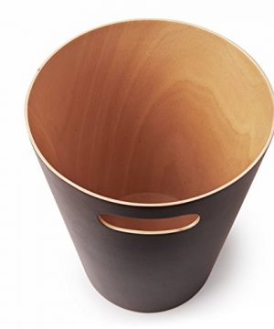 Umbra Woodrow 2 Gallon Modern Wooden Trash Can Wastebasket Or Recycling Bin For Home Or Office Espresso 0 3 300x360