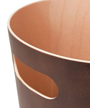 Umbra Woodrow 2 Gallon Modern Wooden Trash Can Wastebasket Or Recycling Bin For Home Or Office Espresso 0 4 300x360