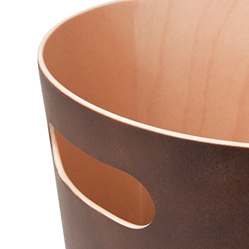 Umbra Woodrow 2 Gallon Modern Wooden Trash Can Wastebasket Or Recycling Bin For Home Or Office Espresso 0 4