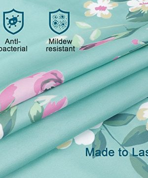 Uphome Pink Rose Flower With Leaves Customized Bathroom Shower Curtain Pink Waterproof And Polyester Fabric Bath Curtain Design72 W X 72 H 0 1 300x360
