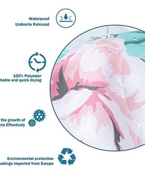 Uphome Pink Rose Flower With Leaves Customized Bathroom Shower Curtain Pink Waterproof And Polyester Fabric Bath Curtain Design72 W X 72 H 0 2 300x360