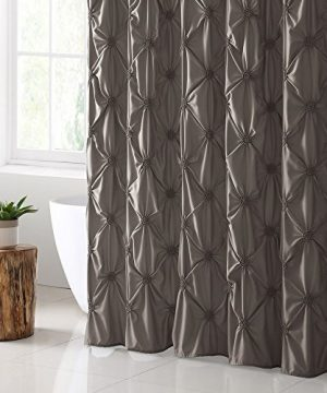 VCNY Home Floral Burst Shower Curtain 72x72 Taupe 0 300x360