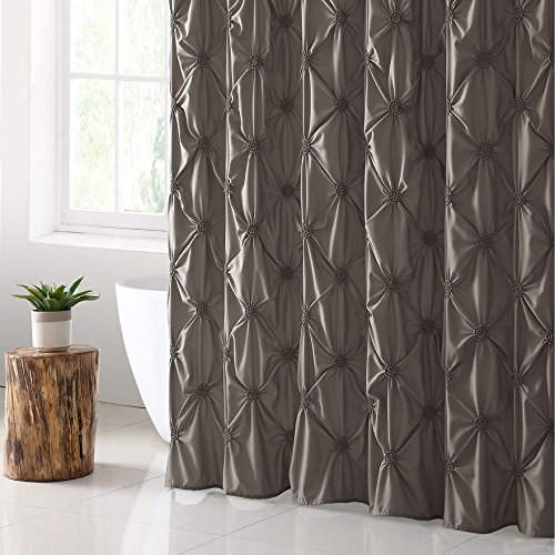 VCNY Home Floral Burst Shower Curtain 72x72 Taupe 0