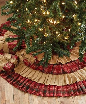VHC Brands Christmas Holiday Decor Whitton Red Tree Skirt King 0 0 300x360