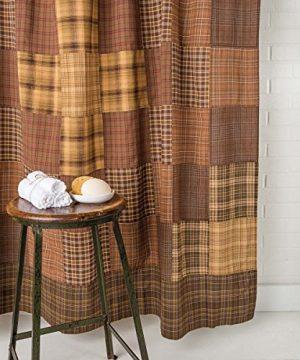 VHC Brands Rustic Lodge Bath Prescott Brown Shower Curtain 72 X 72 0 0 300x360