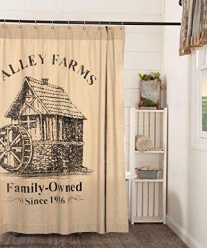 VHC Brands Valley Farms Farmhouse Mill Shower Curtain 72x72 0 0 300x360