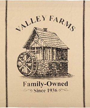 VHC Brands Valley Farms Farmhouse Mill Shower Curtain 72x72 0 300x360
