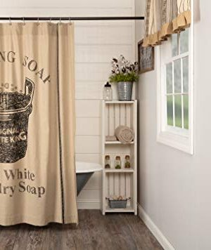 VHC Brands Valley Farms Farmhouse Wooden Soap Tubv Shower Curtain 72x72 0 300x356
