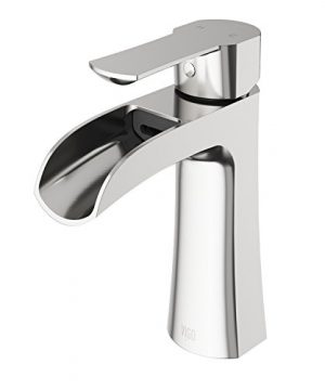 VIGO VG01041BN Paloma Solid Brass Single Hole Bathroom Sink Faucet Premium 7 Layer Plated Brushed Nickel Finish 0 300x360