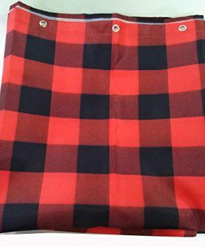 Vandarllin Fabric Shower Curtain 48X72 InchWaterproof WashableRustic Red Black Buffalo Check Plaid Pattern Barh Curtains 0 1 300x360