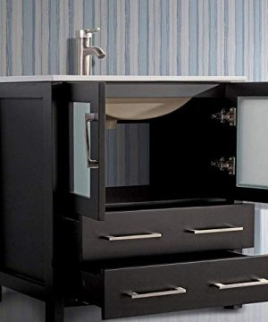 Vanity Art 96 Inch Double Sink Modern Bathroom Vanity Set With Compact 2 Shelf 13 Drawer White Ceramic Top Bathroom Cabinet With Free Mirror VA3030 96 E 0 4 300x360