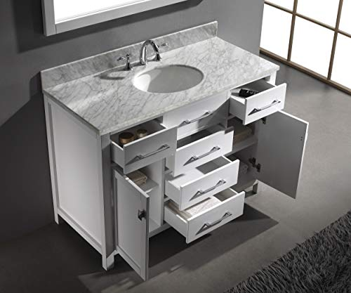 Virtu Usa Caroline 48 Inch Single Sink Bathroom Vanity Cabinet In White Cabinet Only Ms 2048 Cab Wh Farmhouse Goals