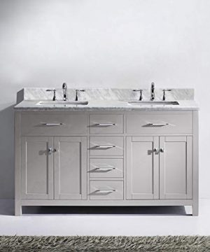 Virtu USA MD 2060 WMSQ CG NM Caroline Bathroom Vanity 60 Inches Cashmere Grey 0 0 300x360