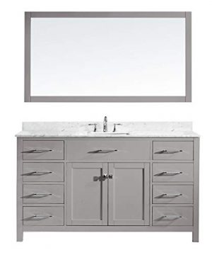 Virtu USA MS 2060 WMSQ CG Caroline Bathroom Vanity 60 Inches Cashmere Grey 0 300x360