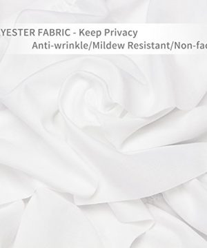Volens White Shower Curtain FabricRuffle For Bathroom72in Long 0 1 300x360