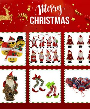 WEWILL 236 60mm Red Plaid Ball Christmas Ornament Party DecorationSet Of 10 Style 2 0 5 300x360