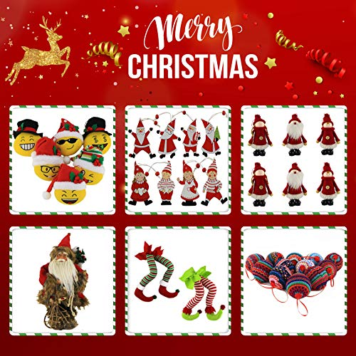 WEWILL 236 60mm Red Plaid Ball Christmas Ornament Party DecorationSet Of 10 Style 2 0 5