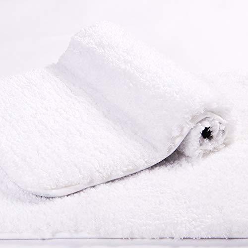 Walensee Bath Rug For Bathroom Non Slip Bathroom Mat 20 X 32 White Water Absorbent Soft Microfiber Shaggy Bathroom Rug Machine Washable Bath Mat For Bathroom Thick Plush Shower Mat 0 1