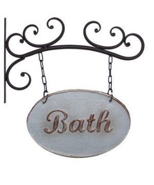 Wall Mounted Metal Bath Sign 0 300x360