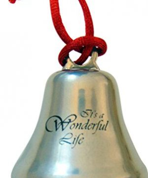 Westman Works Its A Wonderful Life Christmas Ornament Bell On Ribbon Gift Boxed Movie Souvenir 0 300x360