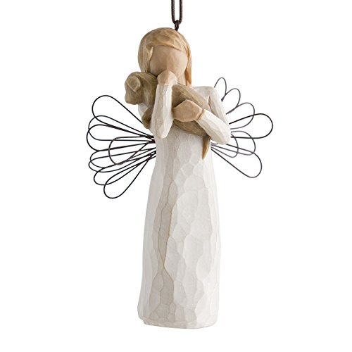 Willow Tree Hand Painted Sculpted Ornament Angel Of Friendship 0