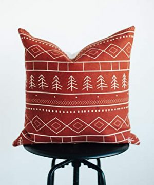 Woven Nook Decorative Throw Pillow Covers ONLY For Couch Sofa Or Bed Set Of 4 18 X 18 Inch Modern Quality Design 100 Cotton Green Red Christmas Noel 0 1 300x360