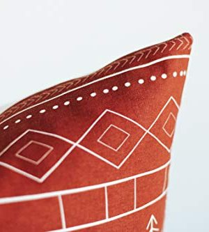 Woven Nook Decorative Throw Pillow Covers ONLY For Couch Sofa Or Bed Set Of 4 18 X 18 Inch Modern Quality Design 100 Cotton Green Red Christmas Noel 0 5 300x333