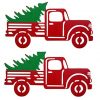 Wowser Rustic Distressed Hanging Red Truck With Christmas Tree Sign Pack Of 2 11 34 Inch 0 100x100