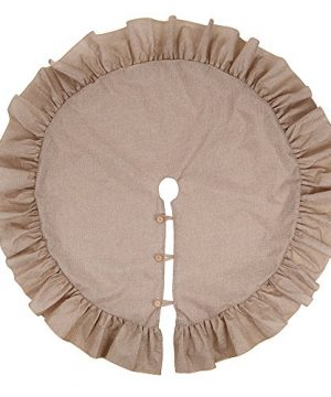 XSem 48 Jute Burlap Christmas Tree Skirt With Ruffled Border Holiday Collection Original 0 300x360