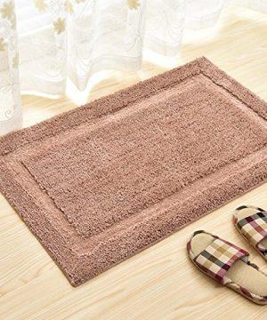ZL Home Indoor Bath Mat Non Slip Rugs Light Brown Water Absorbent Carpet Doormats For Bathroom Bedroom Kitchen Front Entry 0 300x360
