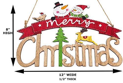 Zilo Novelties Merry Christmas Sign Farmhouse Christmas Decor Christmas Sign Wooden A 0 2