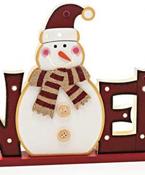 Zilo Novelties Rustic Christmas Decorations Noel Sign Light Up Red 0 300x360