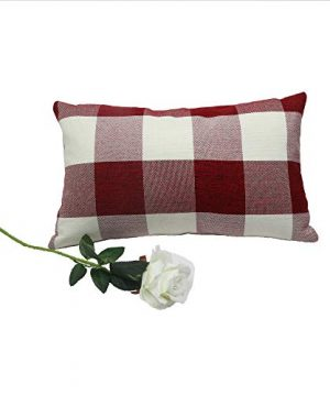 Famibay Set Of 2Classic Farmhouse Pillow Coves Buffalo Check Pillowcase Cotton Linen Plaid Couch Cushion Covers Decorative Christmas Retro Throw Pillow Covers For Living Room 0 3 300x360