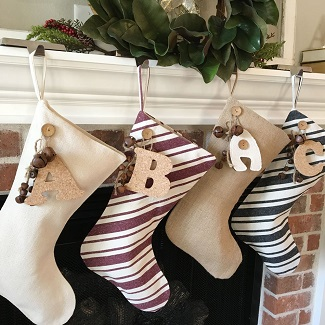 farmhouse christmas stocking
