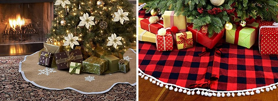 farmhouse christmas tree skirts