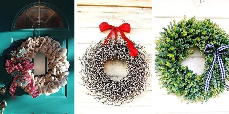 farmhouse christmas wreaths